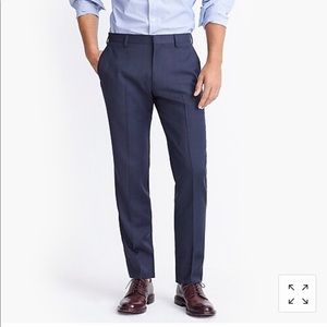 J.Crew navy men's Thompson slim fit suit pants